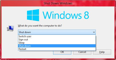 shutdown windows 8